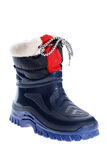 Children's winter boot. Isolated on a white background Stock Images