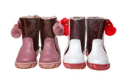Children's winter boots Royalty Free Stock Photo