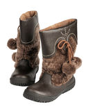 Children's winter boots, isolated stock images