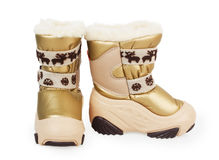 Children's winter boots Stock Images