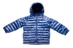 Children's winter jacket. Purple children's winter jacket isolated on white Stock Photography