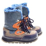 Children's winter shoes Stock Photo
