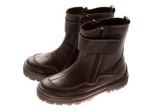 Children's winter shoes Stock Photos