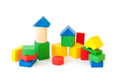 Children's wooden blocks Royalty Free Stock Photo