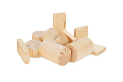 Children's wooden blocks for the game. Royalty Free Stock Images