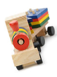 Children's wooden steam locomotive a toy Royalty Free Stock Image