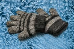 Children's woolen gloves Royalty Free Stock Images
