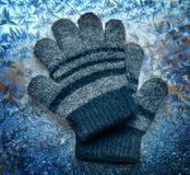Children's woolen gloves Royalty Free Stock Image