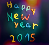 Children's work for the new year Stock Image