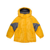 Children's yellow jacket isolated on a white background Royalty Free Stock Photography