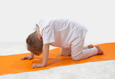 Children's yoga. Royalty Free Stock Photography