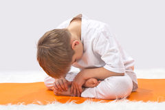 Children's yoga. Royalty Free Stock Photo