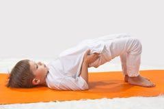 Children's yoga. stock photos