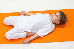 Children's yoga. Royalty Free Stock Image