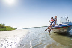 Children sailing Royalty Free Stock Photo