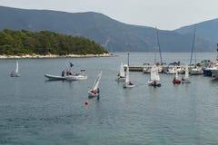Children sailing school Stock Photo