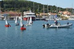 Children sailing school Stock Images