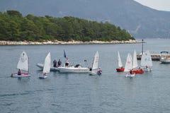 Children sailing school Royalty Free Stock Photo