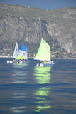 Children in sailing school in port at Saint Jean Cap Ferrat, French Riviera, France Royalty Free Stock Image