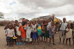 Children of Samburu in a village in Kenya Stock Photos