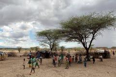 Children of Samburu in a village in Kenya Royalty Free Stock Image