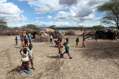 Children of Samburu in a village in Kenya Royalty Free Stock Photography