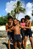 Children in Samoa Royalty Free Stock Photography
