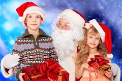Children with Santa royalty free stock photography