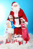 Children with santa Royalty Free Stock Photo