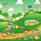 Children save our green world Royalty Free Stock Image