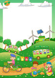 Children Save our green world frame Stock Photo