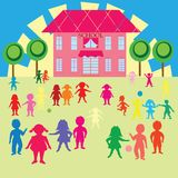 Children and school Royalty Free Stock Image