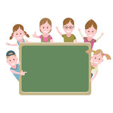 Children at the school board Royalty Free Stock Image