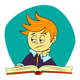 Children in school - boy is feeling bored Stock Images