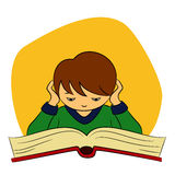 Children in school - boy is reading Stock Images