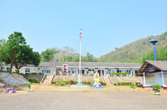 Children School Building at countryside in Thailand Stock Photography