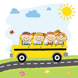 Children in School Bus Royalty Free Stock Images