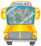 Children and school bus royalty free illustration