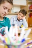 Children at school. Happy Children at the school Royalty Free Stock Photos