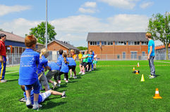 School children on sports day Stock Photography