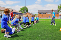 School children on sports day Stock Photos