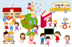 Children and school Stock Photo