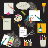 Children school stuff. Royalty Free Stock Photo