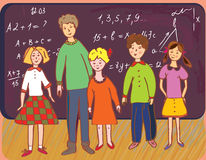 Children at school with teacher Royalty Free Stock Image