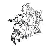 Children at school threat Stock Image