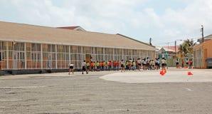 Children In School Yard In Aruba Royalty Free Stock Photo