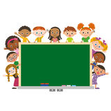 Children with schoolboard Royalty Free Stock Photography