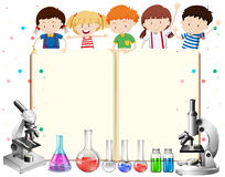 Children and science equipments Stock Photos