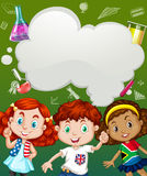 Children and science symbols Stock Image