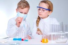 Children scientists Stock Photos